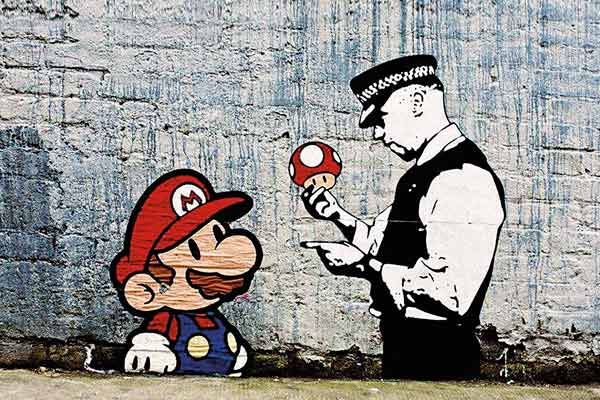Banksy Super Mario Bross